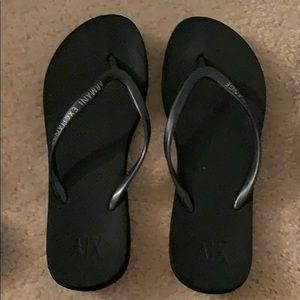 Women's Armani Exchange flip flops